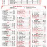 Food Sing, Hudson, Menu