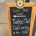 Isaan Thai Star – sidewalk sign