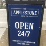 Applestone sidewalk sign