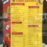 Casa Latina Menu 2