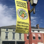 Hudson Farmers' Market Location sign