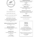 Thyme and Co Menu